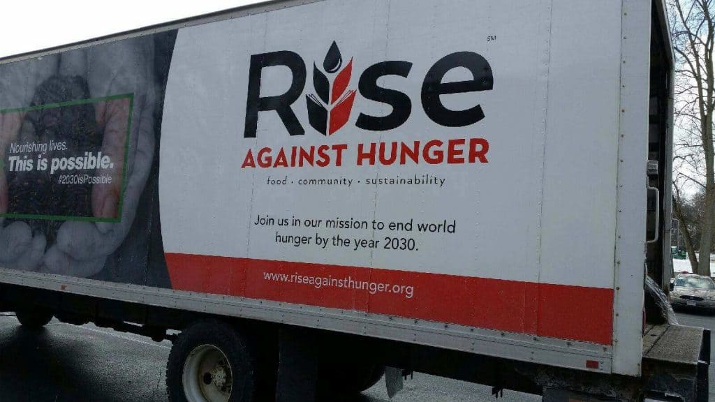 Rise Against Hunger truck